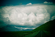 Tibet Prints - Road to clouds in Tibet Print by Raimond Klavins