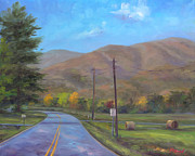 Mountain Road Painting Posters - Road to Cold Mountain Poster by Jeff Pittman