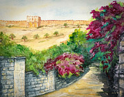 Israel Painting Originals - Road To Eastern Gate by Janis Lee Colon