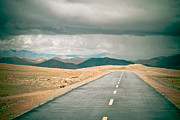 Tibet Prints - Road to Himalyas in Tibet Print by Raimond Klavins