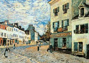 Local Painting Framed Prints - Road to Marly Framed Print by Alfred Sisley