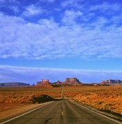 Road To Monument Valley Print by Alex Cassels