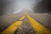 Yellow Line Metal Prints - Road to Nowhere Metal Print by Bill Pevlor