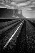 Iceland Posters - Road to Nowhere Poster by David Bowman