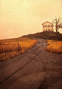 Gravel Road Prints - Road to Old House Print by Jill Battaglia