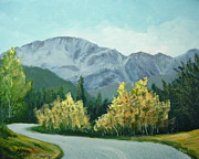 Mountain Road Mixed Media Posters - Road to Pikes Peak Poster by Kenny Henson