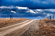 Gravel Road Photos - Road to the Clouds by Eric Benjamin