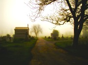 Graveyard Digital Art - Road To The Mausoleum by Gothicolors And Crows