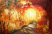 Color Image Paintings - Road to the Sun by Leon Zernitsky