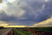 Road To The Tornado - Woonsocket South Dakota Print by Jason Politte