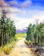 Wyoming Paintings - Road To Union Pass Wyoming by Todd Derr
