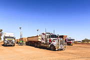 Diesel Prints - Road Trains Refuelling Print by Colin and Linda McKie