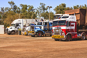 Diesel Framed Prints - Road Trains Taking on Gas or Diesel Framed Print by Colin and Linda McKie