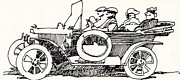 Vintage Open Road Drawings - Road Trip by Dale Michels