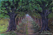 Folkartanna Paintings - Road under Oaks by Anna Folkartanna Maciejewska-Dyba