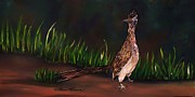 Roadrunner Paintings - Roadrunner on the Road by Lois    Rivera