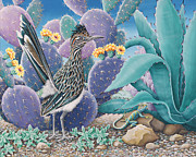 Roadrunner Painting Originals - Roadrunner by Tish Wynne