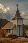Surreal Church Posters - Roadside Church Poster by Robert Bales