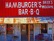 Back Road Digital Art Prints - Roadside Hamburger Joint 20130309 Print by Wingsdomain Art and Photography