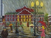 Brick Paintings - Roanoke City Market by Douglas Ann Slusher