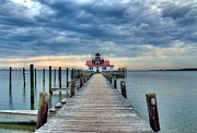 Shallowbag Bay Prints - Roanoke Marshes Light 2 Print by Mel Steinhauer