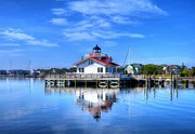 Roanoke Island Framed Prints - Roanoke Marshes Light 3 Framed Print by Mel Steinhauer