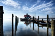 Shallowbag Bay Prints - Roanoke Marshes Light Print by Mel Steinhauer