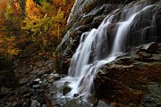 New York Art - Roaring Brook Falls in autumn by Jetson Nguyen