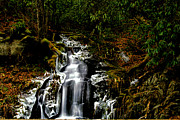 Matthew Winn Posters - Roaring Fork Falls Poster by Matthew Winn