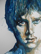 Lead Singer Greeting Cards Paintings - Rob Thomas  Matchbox Twenty by Chrisann Ellis