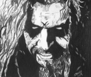 Rock Icon Drawings Posters - Rob Zombie Poster by Jeremy Moore