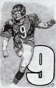 Pro Football Prints - Robbie Gould Print by Jonathan Tooley