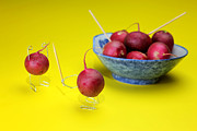 Fruit Photos - Robbing Red Radishes by Mingqi Ge