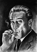 Gangster Drawings - Robert De Niro by Salman Ravish