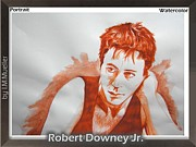 Shoulder Drawings Originals - Robert Downey Jr by Iracema Marianne Muller