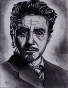Avengers Drawings - Robert Downey jr by Joseph Unruh
