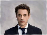 Robert Downey Jr. Posters - Robert Downey Jr Poster by Martin Bailey