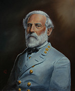 Gettysburg Painting Framed Prints - Robert E. Lee Framed Print by Glenn Beasley