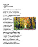 Sonnet Framed Prints - Robert Frost - The Road not Taken Framed Print by Ed Churchill