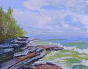 Park Scene Painting Originals - Robert G. Wehle State Park by Robert P Hedden