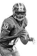 Athlete Drawings Posters - Robert Griffin III Poster by Bobby Shaw