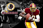 Griffin Prints - Robert Griffin Iii Redskins Print by Joe Hamilton