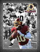 Griffin Framed Prints - Robert Griffin Rgiii Redskins Framed Print by Joe Hamilton