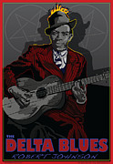 """delta Blues"" Framed Prints - Robert Johnson Delta Blues Framed Print by Larry Butterworth"