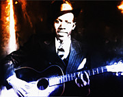 Clapton Digital Art - Robert Johnson - King of the Blues by Bill Cannon