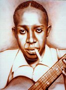 Mike Underwood Art - Robert Johnson by Mike Underwood