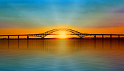 Nina Bradica Metal Prints - Robert Moses Bridge Metal Print by Nina Bradica