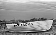 York Beach Prints - Robert Moses Park BW Print by JC Findley