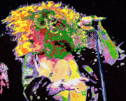 Jimmy Page Paintings - Robert Plant by Barry Novis