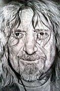 Led Zeppelin Drawings - Robert Plant by Brian Horsley